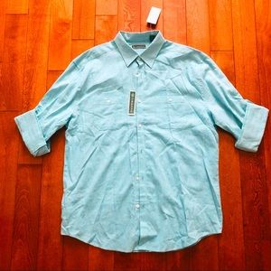 Cubavera linen blend shirt long sleeves Size L